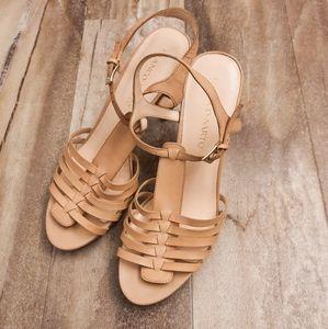 Franco Sarto Martin Strappy Heel Leather Sandals